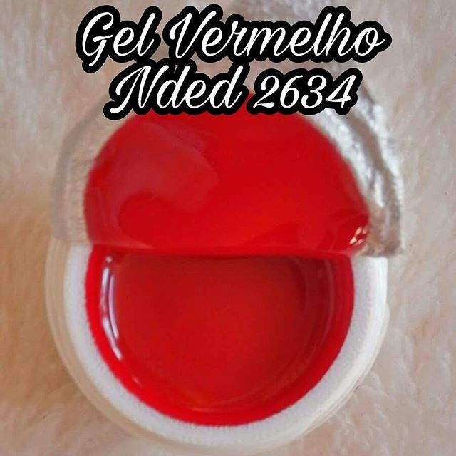 Gel Vermelho Nded 2634 - 5 ml