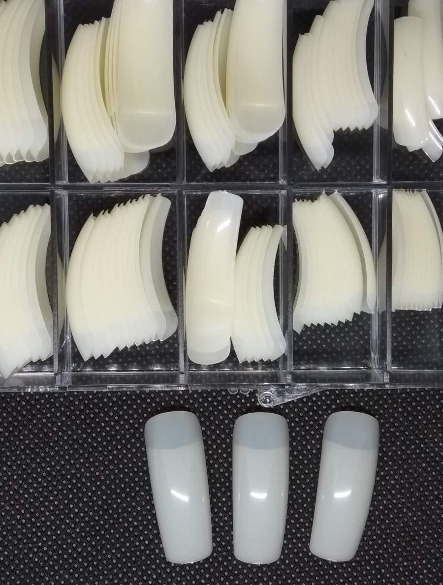 Caixa de 100 Tips Quadradas - Cor Natural