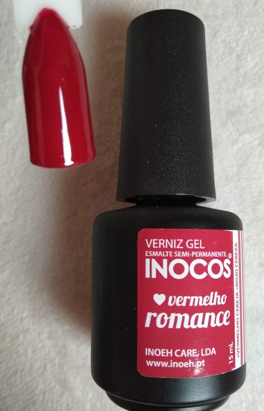 Verniz Gel Inocos Vermelho Romance