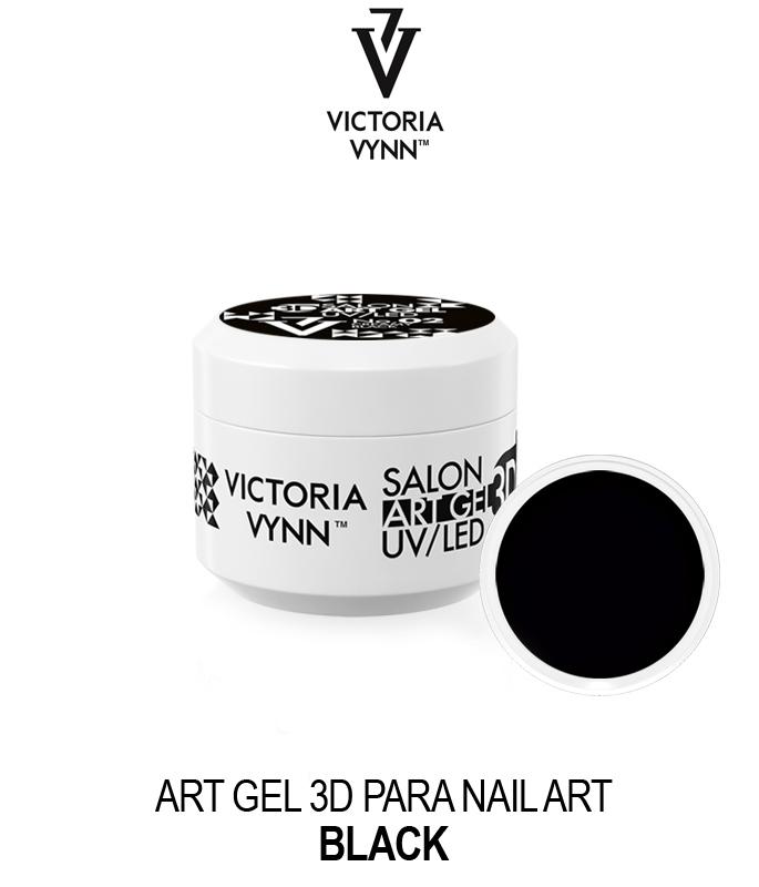 Victoria Vynn - Art Gel 3D para Nail Art - Preto - 5 ml