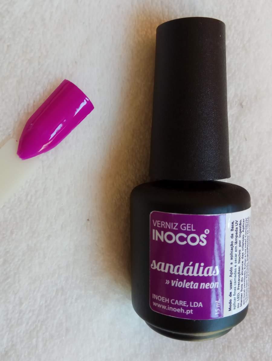 Verniz Gel Inocos Sandálias - Violeta Neon