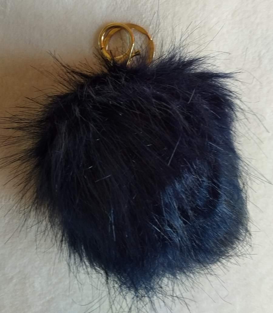 Porta-Chaves Pompom Grande Azul Escuro