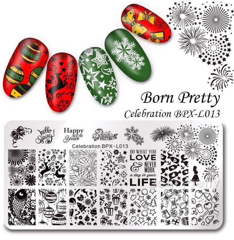 Placa BPX-L013 - Natal, Fim de Ano, Celebrações, Fogo de artifício