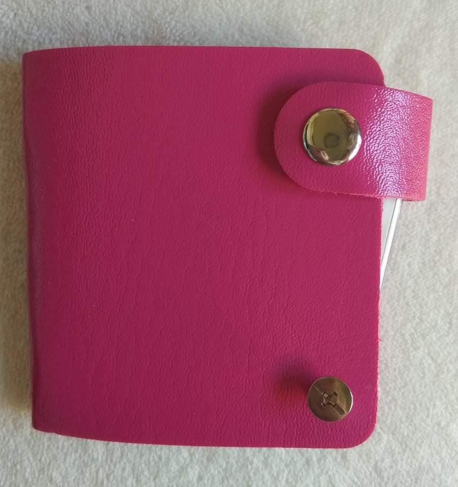Bolsa para Placas de Carimbos Quadradas - Rosa Choque