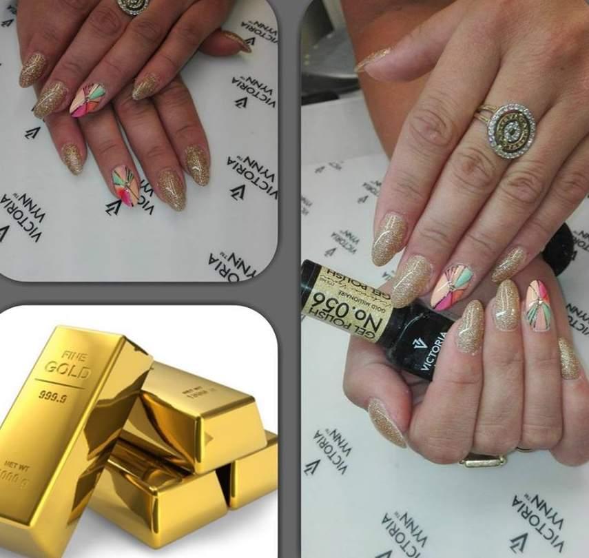 Victoria Vynn Verniz Gel Nº 056 - Gold Millionaire - 8 ml