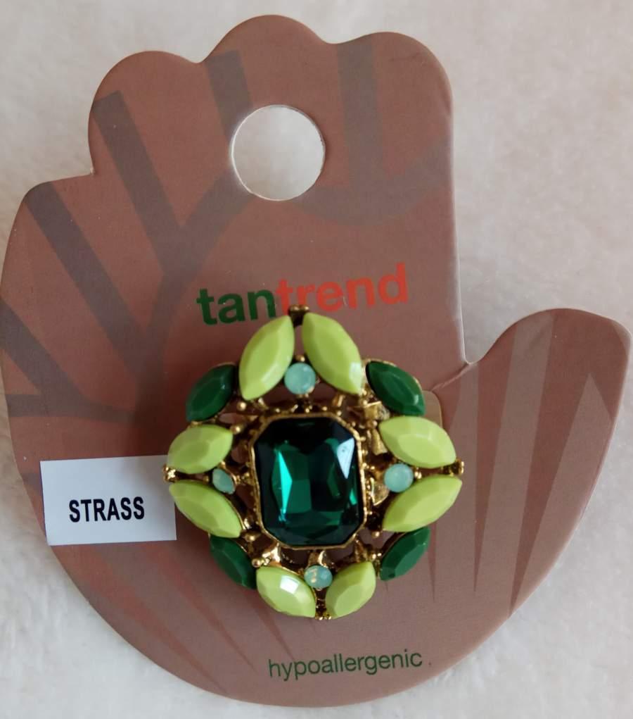 Anel Pedras Verdes - Hipoalernégico - Tamanho Regulável