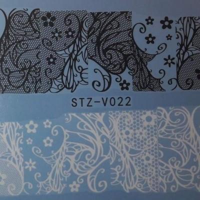 Decalques Rede Floral STZ-V022