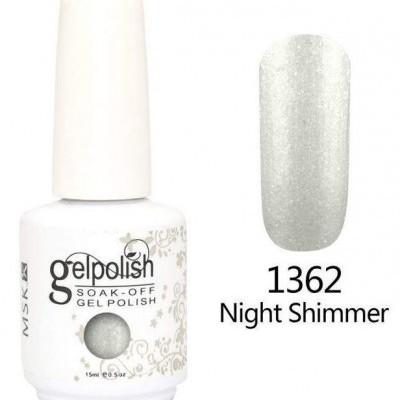 Gel Polish 1362 Glitter Prateado - 15 ml