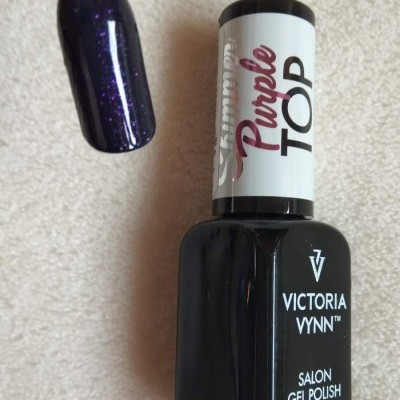 Top Coat Sem Goma - Shimmer Purple - Victoria Vynn - 8 ml