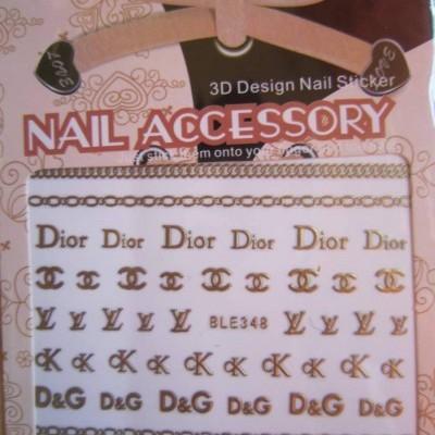 Autocolantes Chanel, Dior, YSL, D&G, Ck - BLE348