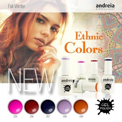 Verniz Gel Andreia - Ethnic Colors - 255, 256, 257, 258 e 259