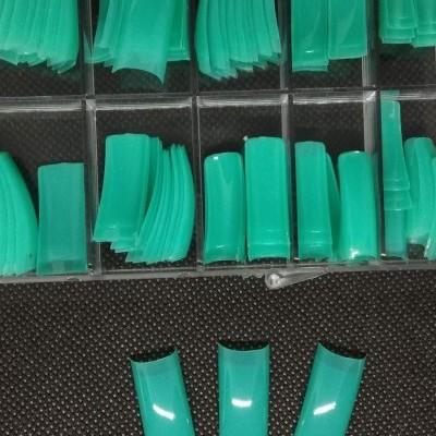 Caixa de 100 Tips Quadradas - Cor Verde