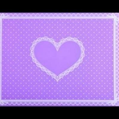 Tapete de Silicone com Coração - Lilás