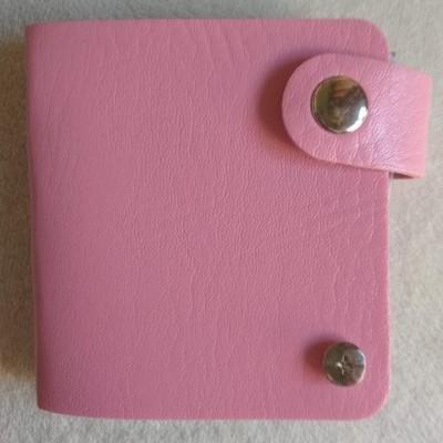 Bolsa para Placas de Carimbos Quadradas - Rosa Claro