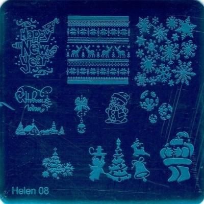 Placa de carimbos Helen 08 - Natal