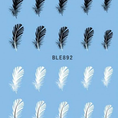 Decalques Penas Preto e Brancas - BLE-892