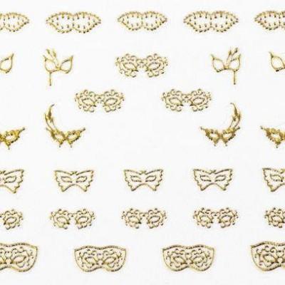 Decalques Máscaras Douradas de Carnaval