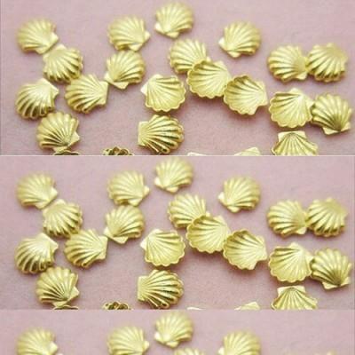 Conchinhas Douradas 3D - 10 Unidades