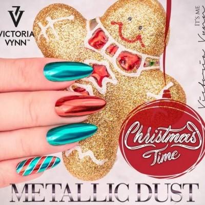 Kit 2 Pós Metalizados - Verde e Vermelho - Victoria Vynn
