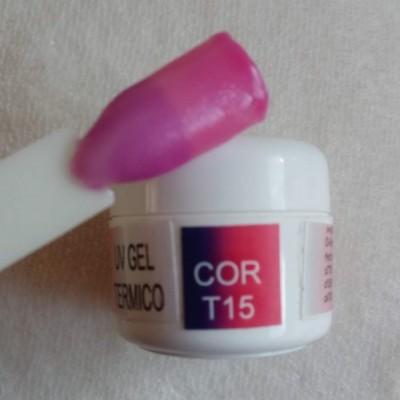 Gel Térmico T15 - Roxo / Rosa com Glitter