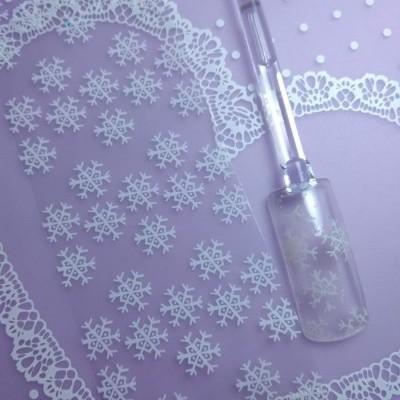 Foil Flocos de Neve Brancos