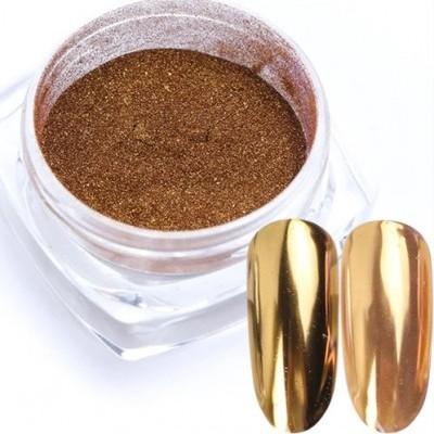 Pó de espelho Cromado Dourado