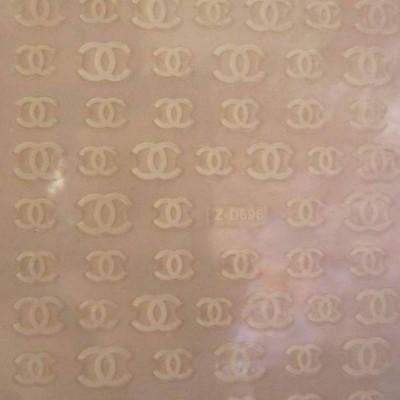 Autocolantes Chanel Z-D696 Branco