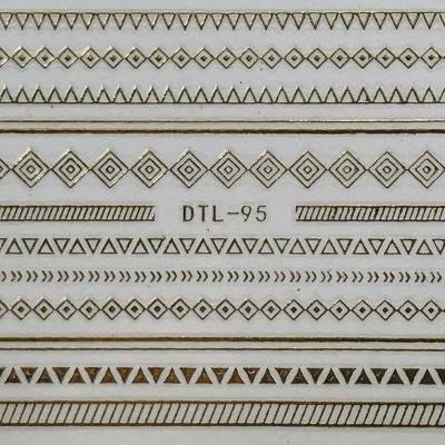 Autocolantes 3D - DTL-95 - Dourado