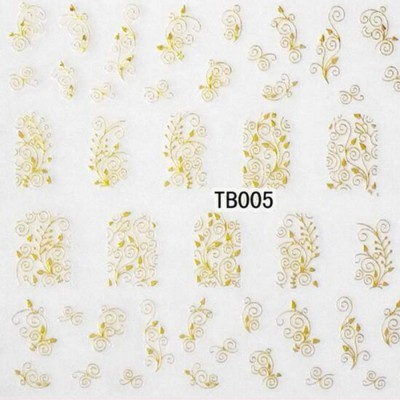 Autocolantes  3D Dourados - TB005