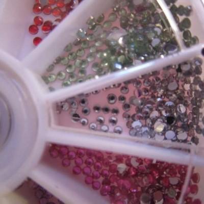 Rodinha Brilhantes Coloridos Pequenos 1.5 mm