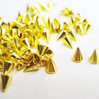 Spikes Dourados Pequenos - 10 unidades