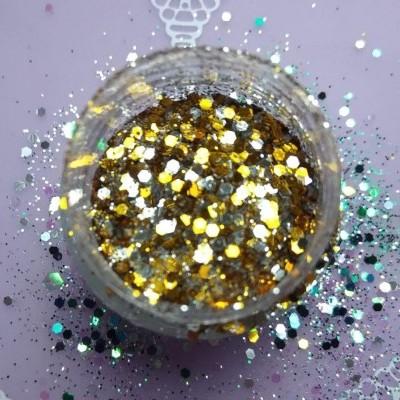 Glitter e Confetis Dourados - 10 gr