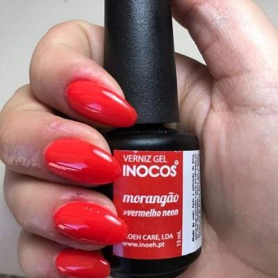 Verniz Gel Inocos Morangão - Vermelho Neon - 15 ml