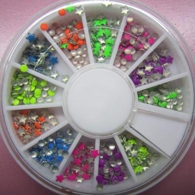 Rodinha Tachas Coloridas Neon - Bolinhas e Estrelas