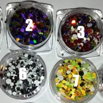Confetis Espelhados Coloridos - Uma Unidade