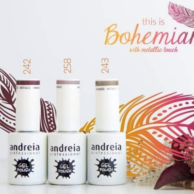 Verniz Gel Andreia - Bohemian with metallic touch - 242, 243 e 258