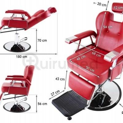 Cadeira Hidraulica de Estilo Retro para Cabeleireiro e Barbearia