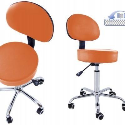 Cadeira com base cromada de 5 rodas