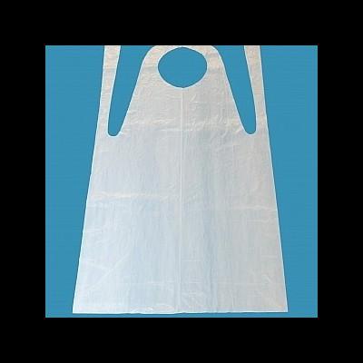 Avental de plástico descartável