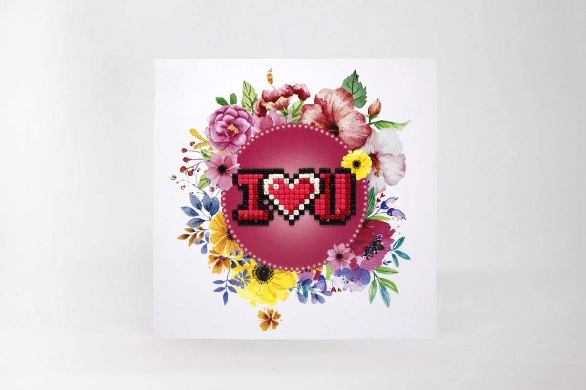 Puzzle 5D - Cartão I love You