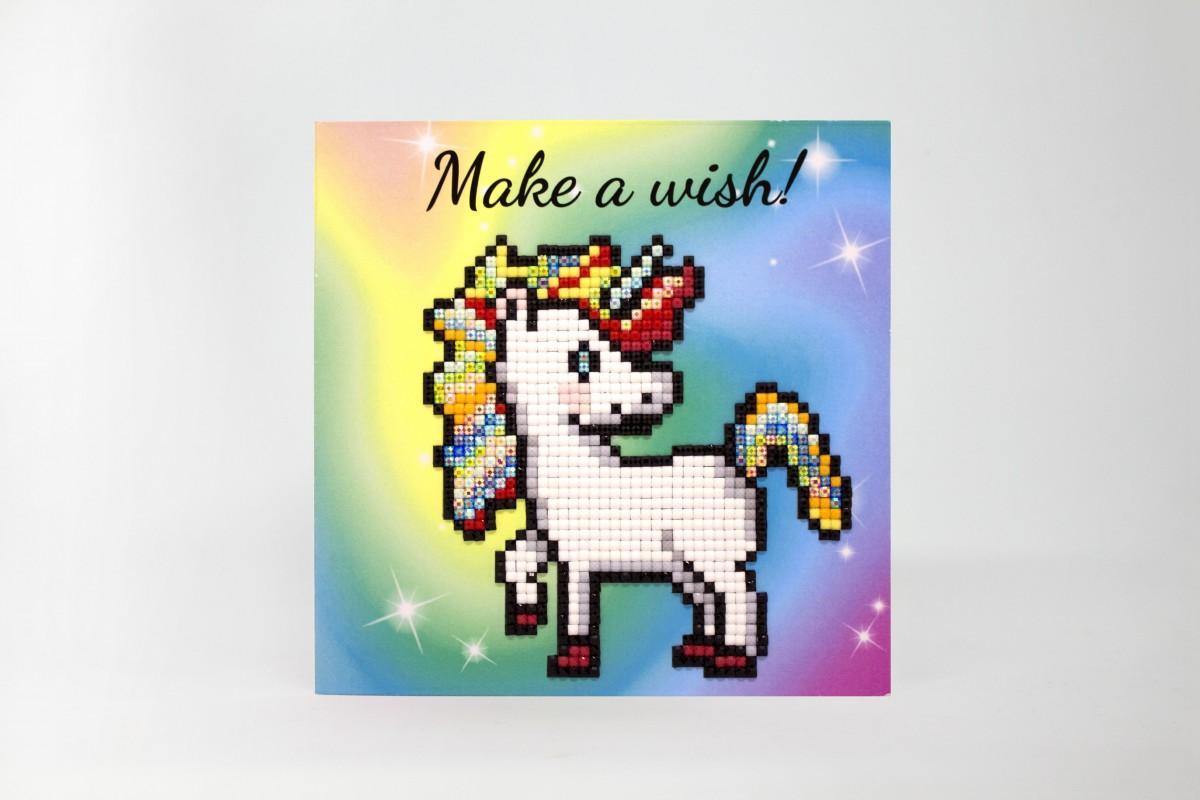 Puzzle 5D - Cartão Make a wish - Unicórnio