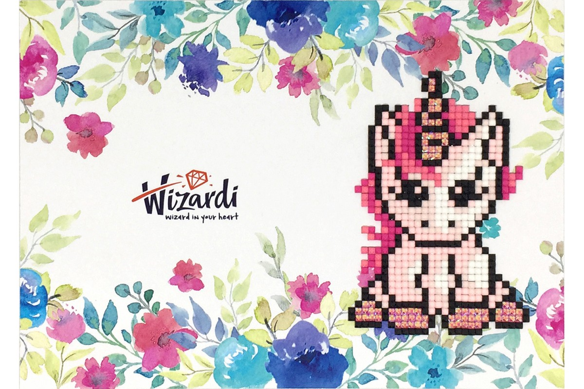 Puzzle 5D - Cartão Unicórnio