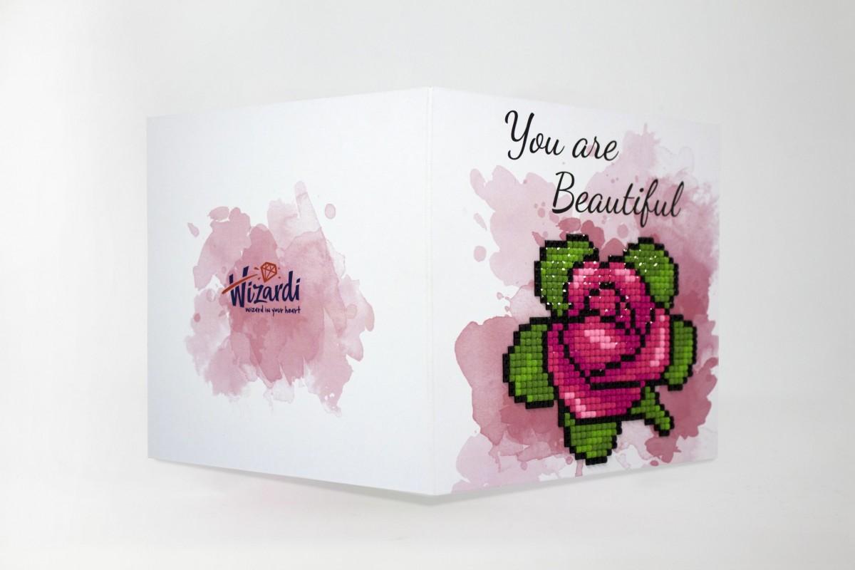 Puzzle 5D - Cartão You are beatiful