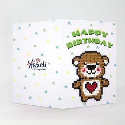 Puzzle 5D - Cartão Ursinho