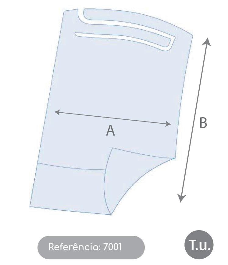 Babete em Papel + Polietileno, com bolsa (embalagem 100/un)