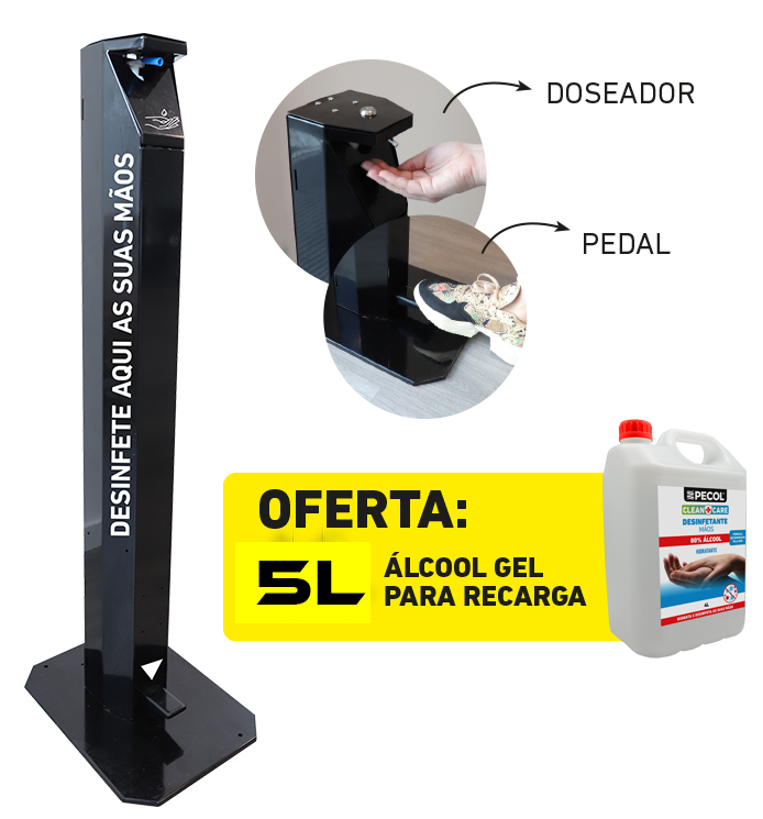 Dispensador de Gel com pedal + 5L Gel