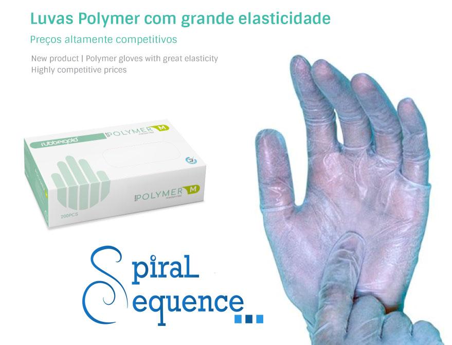 Luvas em Polymer azul, sem pó - Cx 200/un