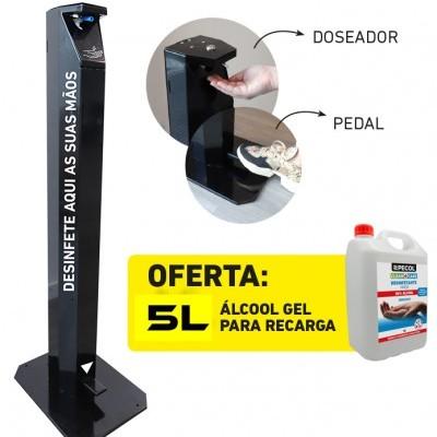 Dispensador de Gel com pedal + 5L Gel