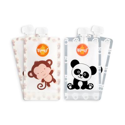 💥BLACK FRIDAY -20% DESCONTO Pack 4 Pacotes reutilizáveis Squeez! Personalizavel 150ml