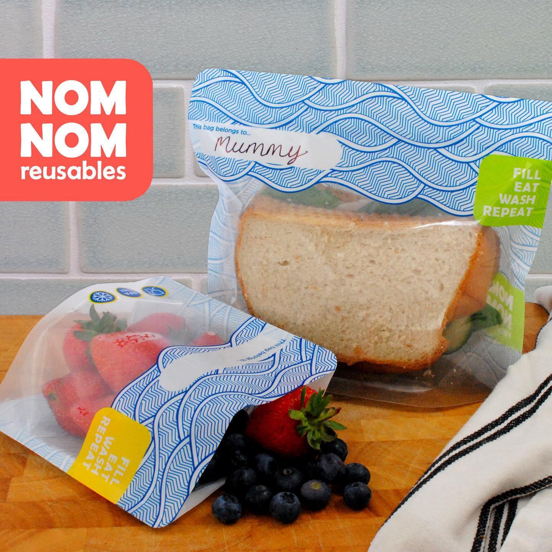 Saquetas Reutilizáveis Versão Neutra para Sandes ou Snacks